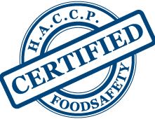 H.A.C.C.P. Certified