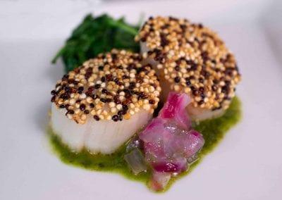 Chimichurri Quinoa-Crusted Scallops