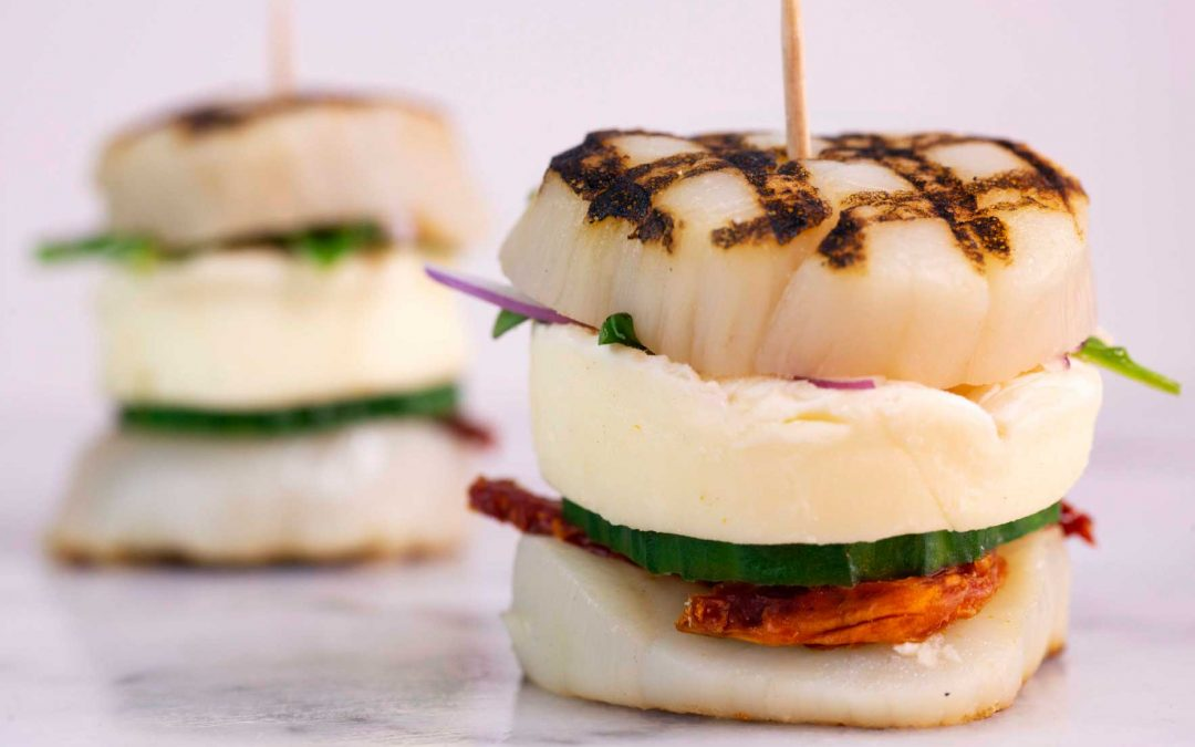 Grilled Scallop Brie Sliders