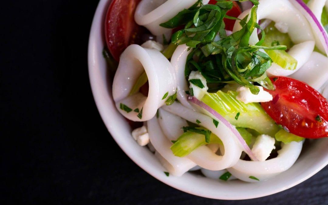 Poached Calamari Salad