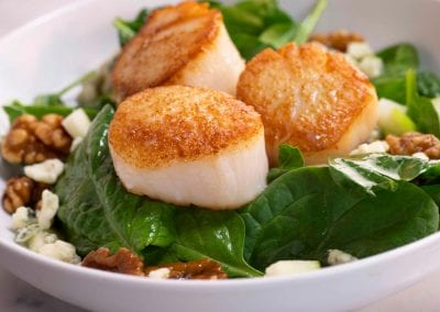 Scallop Spinach Salad