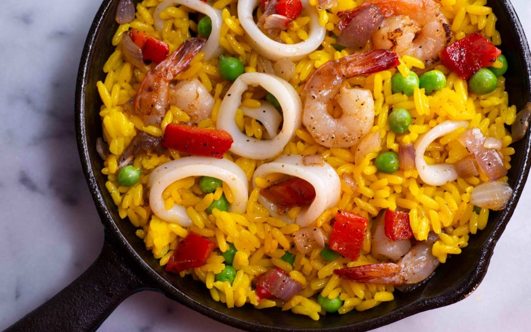 Squid & Shrimp Paella