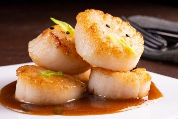 Scallops with Spicy Teriyaki Sauce